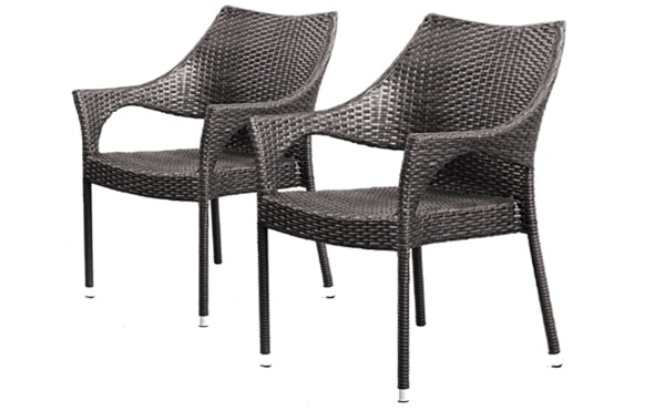 wicker chairs that stack