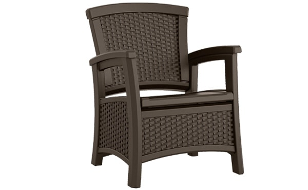 patio chair with storage