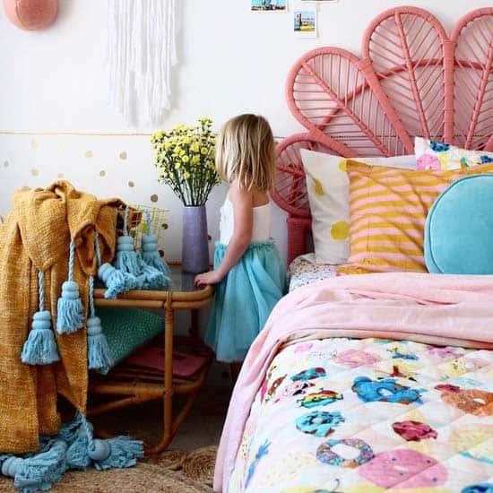 boho kids room
