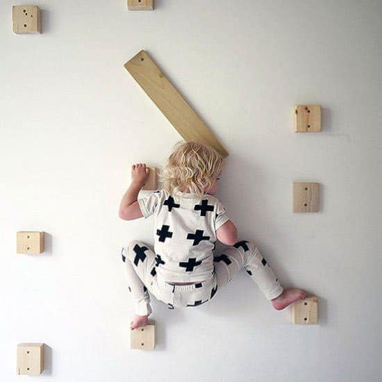 toddler climbing wall
