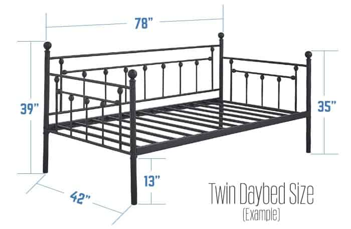 daybed-size